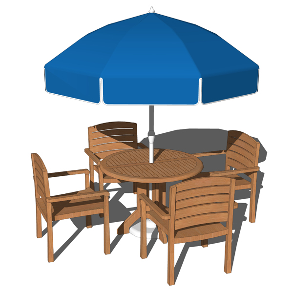 Pool dining set. Model includes 4 chairs, the tabl....