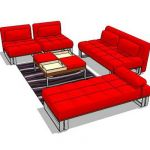 Over stuff fabric sofa set