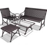 Wrought iron set for garden or sheltered exterior