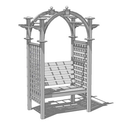 Garden arbor. 2 configurations; as an archway and ....