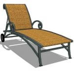 View Larger Image of wrought iron lounger