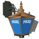 British antique police sign.