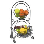 Spanish style wrought iron decorative baskets with...