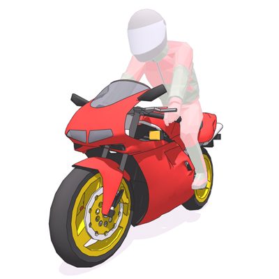 Ducati 916 motorbike