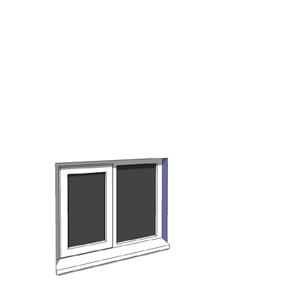 915x750mm narrow module single casement window.