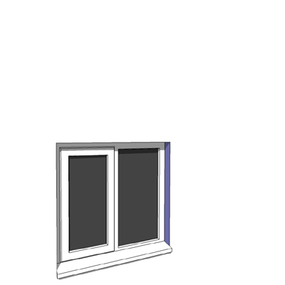 915x900mm narrow module single casement window.