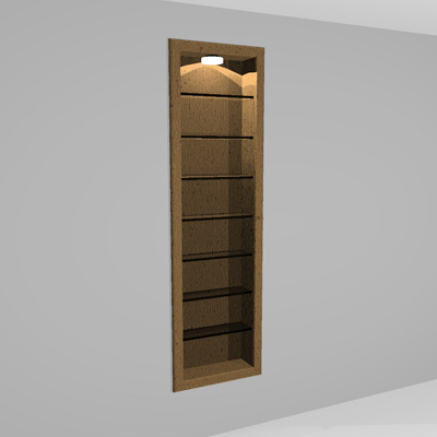 Revit Modeled, Wall Cabinet will cut into wall whe....