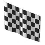 Chequered finish line flag. Geometric