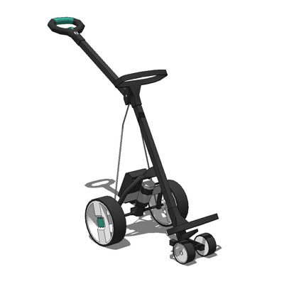 Motorised golf trolley in a selection of colours. ....