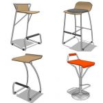 Assorted barstools