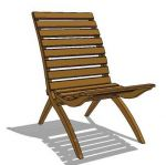 Indonesian teak folding garden chair