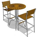 Teak bar table and chair set
