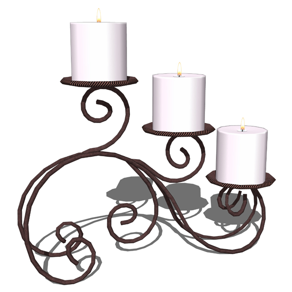 Wrought iron 3 candles holder for table decoration....