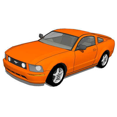 Ford Mustang GT. This model have four color config....