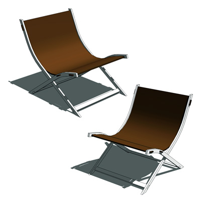 Antonio Citterio Timeless Chair. Frame in nickel-s....