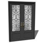 View Larger Image of Iron exterior door 02