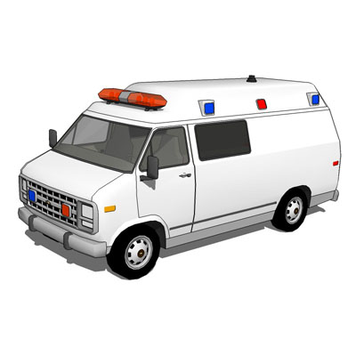 Chevy Van 1985, in four emergency configurations..