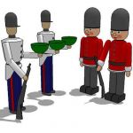 Toy soldiers for display