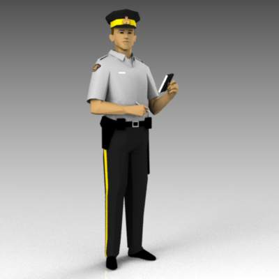 Canadian RCMP police officers..
