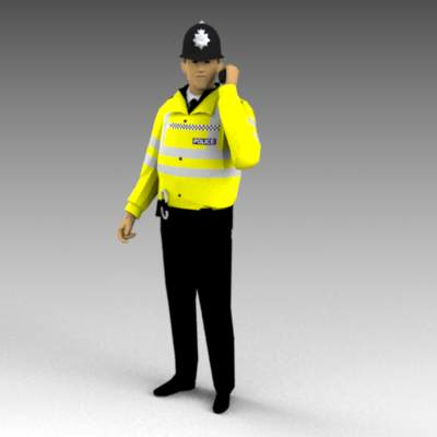 British police in high visibility jackets.