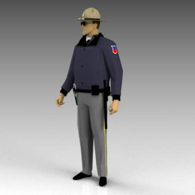 A selection of generic police/security figures.