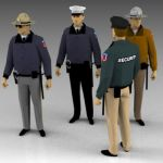 A selection of generic police/security figures