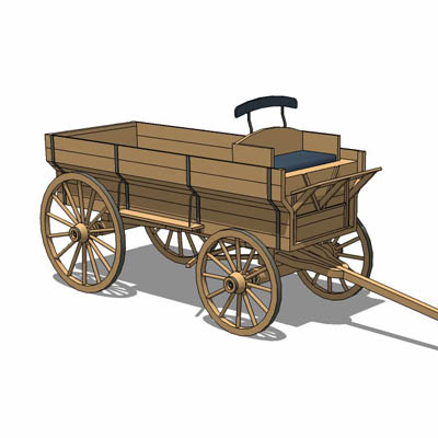 A typical 19th century covered wagon or Prairie Sc....
