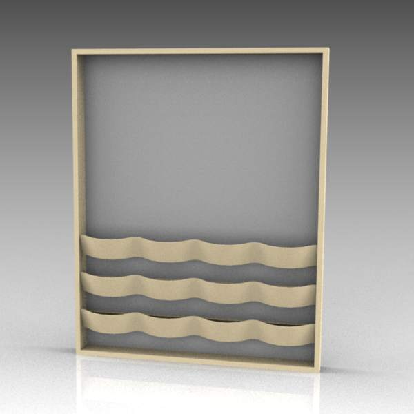 Vagspel magazine rack and notice board by Materia.