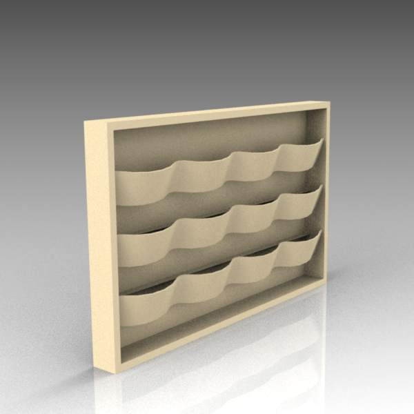 Vagspel magazine rack by Materia.