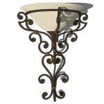 Spanish style wrought iron sconce.