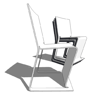 Eco stackable chair from Voxia, designed by Peter ....