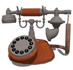 View Larger Image of Antique style phone
