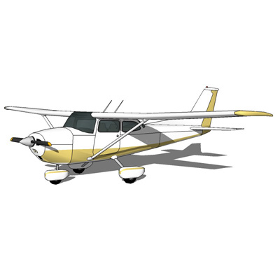 The Cessna 172 Skyhawk is a four-seat, single-engi....