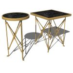 Campaign style side tables available in square and...