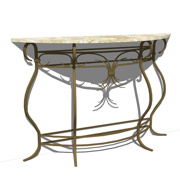 Wrought iron console table. Matches the wrought ir....