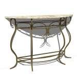 Wrought iron console table. Matches the wrought ir...