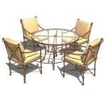 View Larger Image of FF_Model_ID7280_Hacienda_dining_set_FMH.jpg