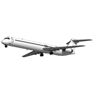 The MD 82, is a mid-size, medium-range airliner th....