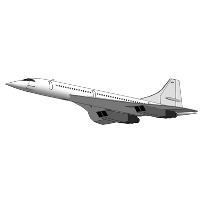 The Aérospatiale-BAC Concorde supersonic tr....
