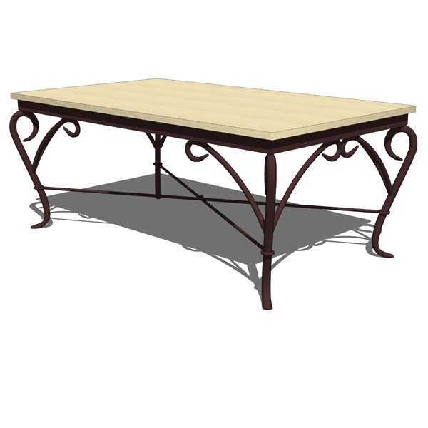 Wrought iron Genesis coffee table by Alexandra Die....