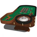 Roulette table with chips for Casinos