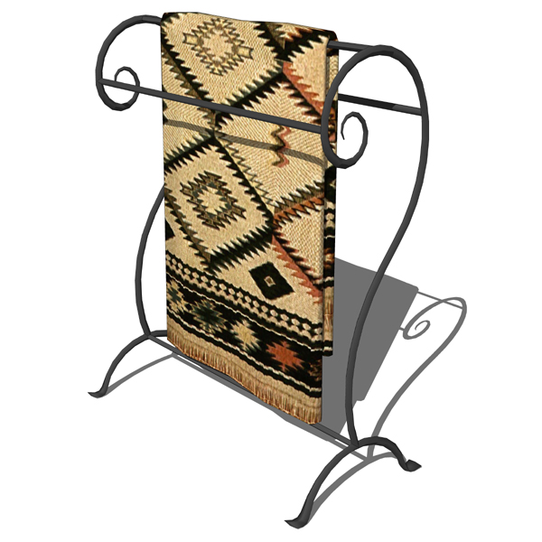 Wrought iron towel and blanket stands by Stone Cou....