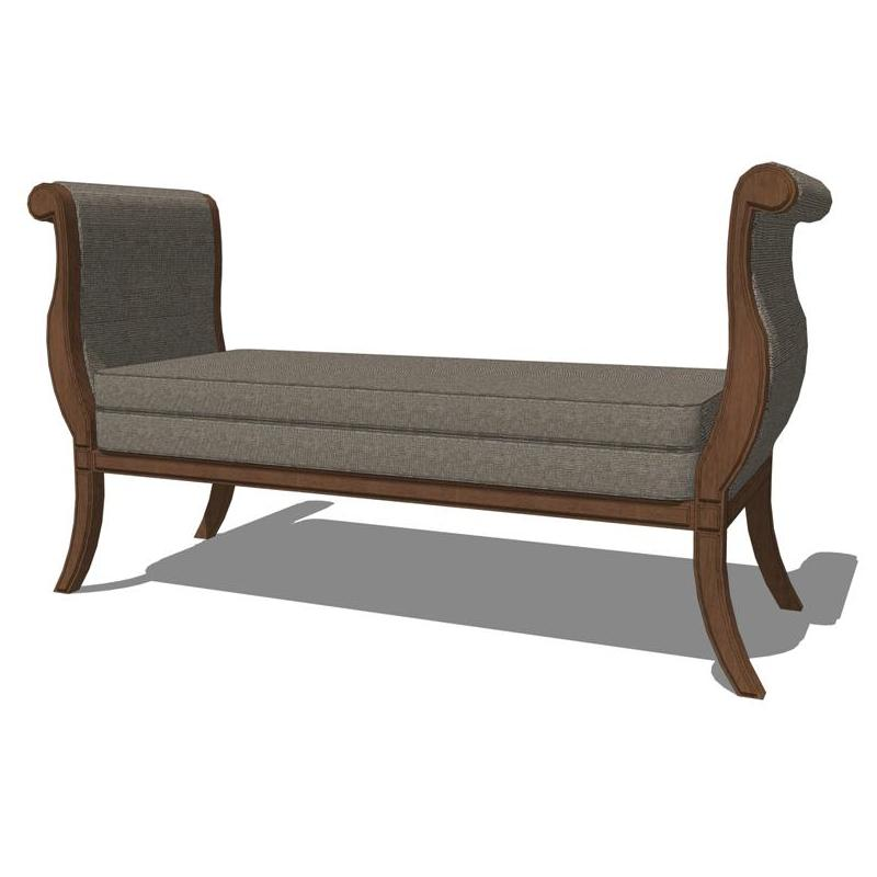 Empire bench by Baker Furniture..