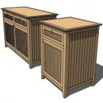 Indonesian teak sideboard
