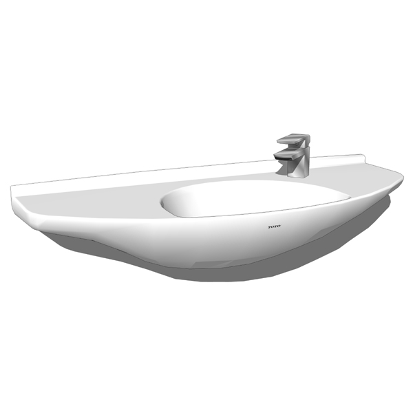 Toto Lt650G wall mount lavatory. Contemporary styl....