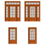 Front doors set 02. For each type of door there ar...