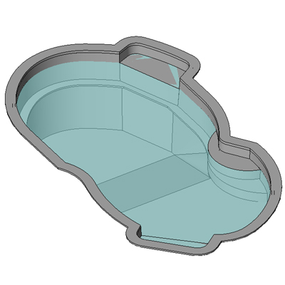 Revit Modeled, Parameters include: Materials.  Poo....