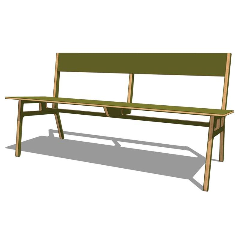 Context Furniture - Truss Museum Bench. Context Fu....