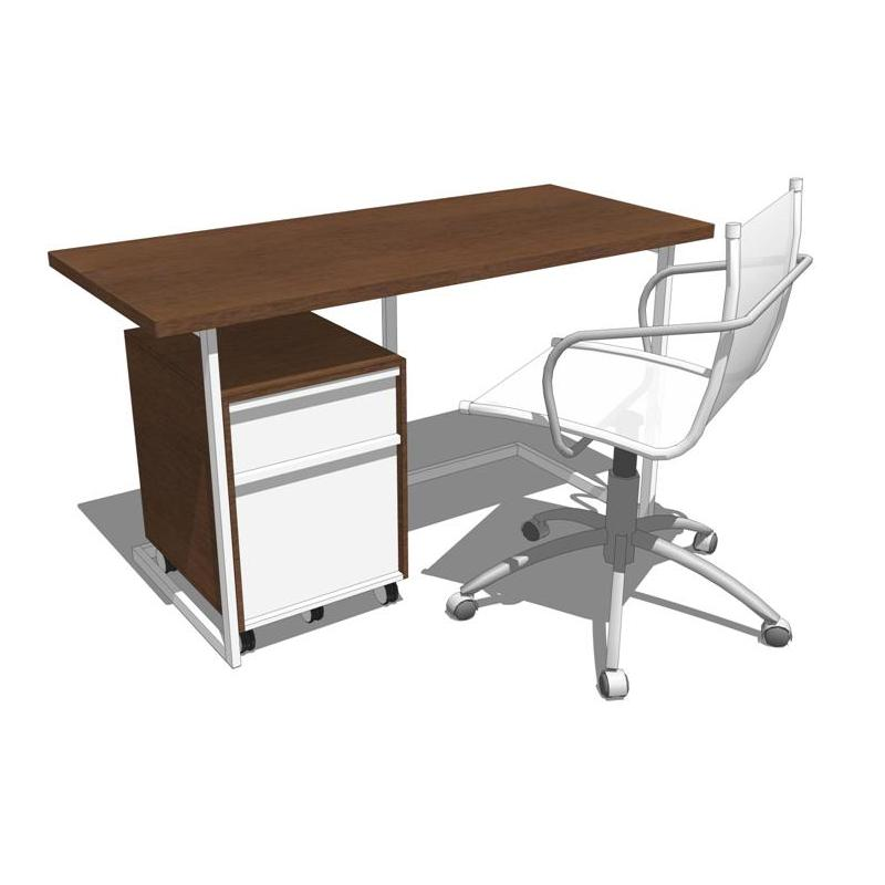 Industrial styling for the home office. Modular ve....