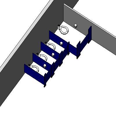 Commercial Bathroom Toilet And Partitions 48D Model FormFonts 48D Classy Commercial Bathroom Partition Walls Model